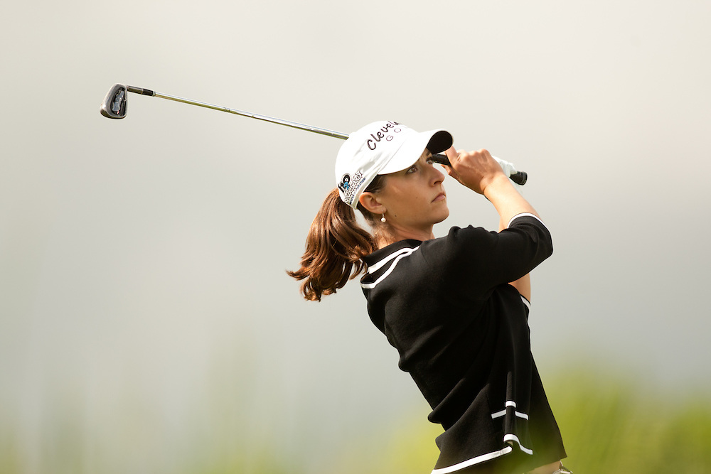 GLADSTONE, NJ - MAY 20: Paige MacKenzie plays a shot during the second round of the 2011 Sybase Match Play Championship at Hamilton Farm Golf Club in Gladstone, New Jersey on May 20, 2011. (photograph ©2011 Darren Carroll) *** Local Caption *** Paige Mackenzie