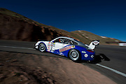 June 26-30 - Pikes Peak Colorado. David Donner runs his car during practice for the 91st running of the Pikes Peak Hill Climb.