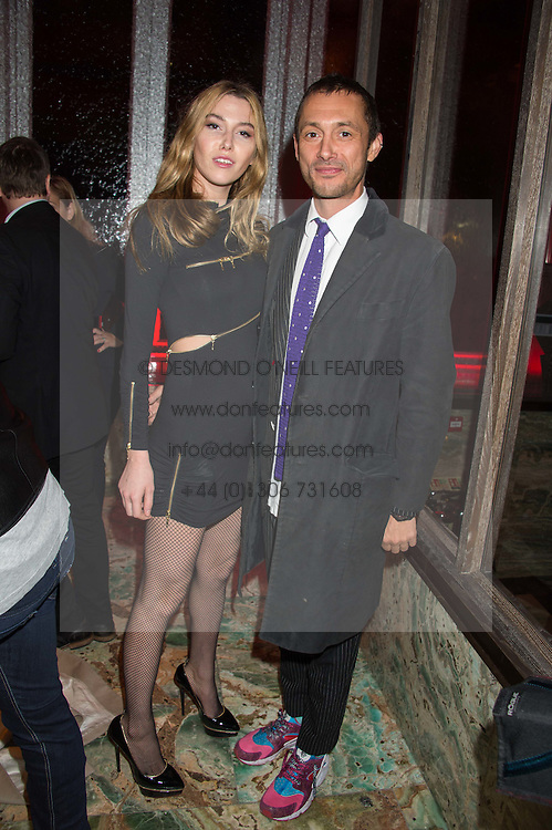 DAN MACMILLAN and DAISY BOYD at the launch of the new Matchless Star Wars collection at Sexy Fish, Berkeley Square, London on 4th November 2015.
