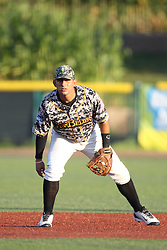 24 July 2015:  2nd baseman Santiago Chirino during a Frontier League Baseball game between the Gateway Grizzlies and the Normal CornBelters at Corn Crib Stadium on the campus of Heartland Community College in Normal Illinois