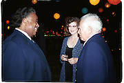 Al Sharpton, Norris and Norman Mailer. Talk magazine launch. New York. 2 September 1999.<br />