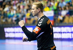 Bart Ravensbergen of Netherlands reacts during handball match between National teams of Slovenia and Netherlands in Qualifications of 2020 Men's EHF EURO, on April 14, 2019, in Arena Zlatorog, Celje, Slovenia. Photo by Vid Ponikvar / Sportida