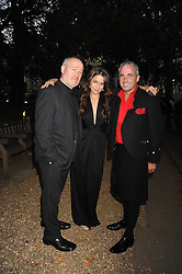 Left to right, VINCE POWER, SOPHIA PASETTI and JOSEPH MCCOLGAN at the End of Summer Ball in support of The Prince's Trust in Berkeley Square, London on 25th September 2008.