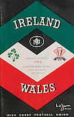 Rugby 1964 - 07/03 Five Nations Ireland Vs Wales
