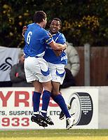 Photo: Olly Greenwood/Sportsbeat Images.<br />Billericay Town v Swansea City. The FA Cup. 10/11/2007. Billericay's Wayne Semanshia celebrates scoring