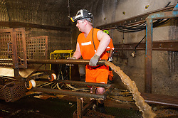 Drilling a core sample in Boulby Potash mine