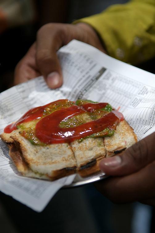 The famous Mumbai grilled veg sandwich