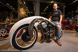 The 'Speedster King' from Marusius of Hungary in the AMD World Championship of Custom Bike Building in the Intermot Customized hall during the Intermot International Motorcycle Fair. Cologne, Germany. Sunday October 7, 2018. Photography ©2018 Michael Lichter.