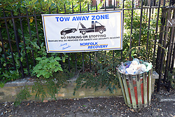 Tow away zone, Norwich UK