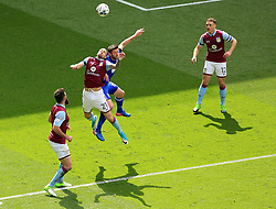23 April 2017 - EFL Championship Football - Aston Villa v Birmingham City - Alan Hutton of Aston Villa battles Lukas Jutkiewicz of Birmingam City for the ball - Photo: Paul Roberts / Offside