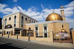 © Licensed to London News Pictures. 15/05/2020. London, UK. View of Wightman Road Mosque in North London. Mosques, churches, temples and other places of worship have been closed since 23 March due to the coronavirus lockdown. Photo credit: Dinendra Haria/LNP