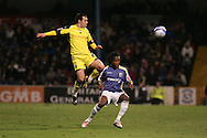 Preston's  Ross Wallace beats Cardiff's Miguel Comminges. Coca Cola championship, Cardiff city v Preston NE at Ninian Park on Sat 6th Dec 2008. pic by Andrew Orchard,Andrew Orchard sports photography