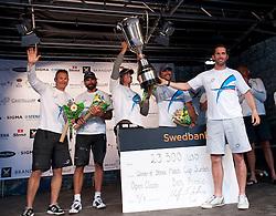Ainslie winner of the Stena Match Cup Sweden 2010, Marstrand-Sweden. World Match Racing Tour. photo: Loris von Siebenthal - myimage