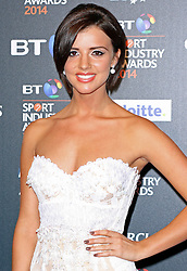 © Licensed to London News Pictures. 08/05/2014, UK. Lucy Mecklenburgh, BT Sport Industry Awards 2014, Battersea Evolution, London UK, 08 May 2014. Photo credit : Brett D. Cove/Piqtured/LNP