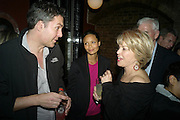 OL PARKER; THANDIE NEWTON; BETTE MIDLER Party after the opening of  A Memory, A Monologue, A Rant, and A Prayer  at Century Club.  Restless Buddha's fundraising event helping women around the world. All proceeds raised from the sale of tickets go to Women for Women International, V-Day and Domestic Violence Intervention Project. 26 March 2012