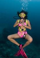 Diving in Guam's Piti Marine Park unit.