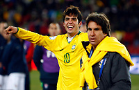 Fotball<br /> Brasil v USA<br /> Foto: Colorsport/Digitalsport<br /> NORWAY ONLY<br /> <br /> Kaka of Brazil and Real Madrid  FIFA Confederations Cup Final South Africa 2009.  <br /> United States of America v Brazil<br /> at Ellis Park Stadium ( Coca Cola Stadium ) South Africa<br /> 28/06/2009