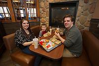 McDonald's North Conway location fireplace, gondola and exterior.  ©2018 Karen Bobotas Photographer