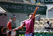 Dominic Thiem of Austria during day 1 of the French Open 2021, a Grand Slam tennis tournament on May 30, 2021 at Roland-Garros stadium in Paris, France - Photo Jean Catuffe / ProSportsImages / DPPI