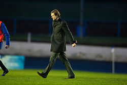 Steven Pressley, Falkirk manager at the end..Cowdenbeath 4 v 1 Falkirk, 9/2/2013..©Michael Schofield.