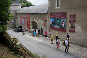 Visitors outside Chateau de Clos Lucé, home to Leonardo da Vinci for the last 3 years of his life and now a celebration of his life and achievements, Amboise, France.