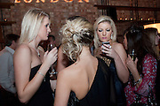 LUCY PALMER; ; DANIELLE LANGLEY; DANIELLE COYLE; NATALIE COYLE, MYLA 10th ANNIVERSARY PARTY, Almada, Berkeley st. London. 17 November 2010. -DO NOT ARCHIVE-© Copyright Photograph by Dafydd Jones. 248 Clapham Rd. London SW9 0PZ. Tel 0207 820 0771. www.dafjones.com.