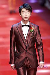 MILAN, June 18, 2017  Chinese singer Karry Wang walks the runway for fashion house Dolce&Gabbana during Milan Men's Fashion Week Spring/Summer 2018 in Milan, Italy, on June 17, 2017.  zcc) (Credit Image: © Jin Yu/Xinhua via ZUMA Wire)