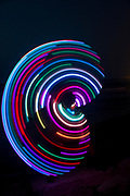 Psychedelic Hula Hoop at night