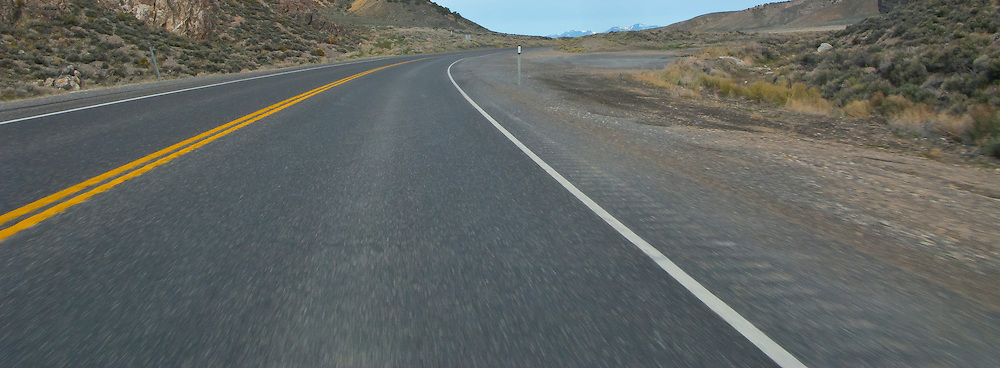 US 50 climbs a canyon in the high desert of central NV Loneliest road in America US 6