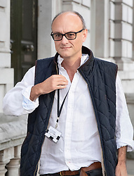 © Licensed to London News Pictures. 30/08/2019. London, UK. Government special advisor Dominic Cummings arrives at Downing Street. The government has asked the Queen to suspend Parliament in the days after MPs return to work in September - a few weeks before the Brexit deadline of October 31st. Photo credit: Peter Macdiarmid/LNP