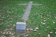 The location of a burning cross, felled during the Blitz in WW2, on 21st September 2016, in Waterloo, SE1, south London borough of Southwark, England UK