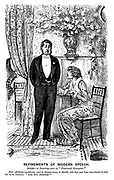"""Refinements of Modern Speech. Scene - A drawing-room in """"Passionate Brompton."""" Fair Aesthetic (suddenly, and in deepest tones, to Smith, who has just been introduced to take her in to dinner). """"Are you intense?"""""""