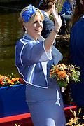 Koningsdag 2014 in de Rijp, het vieren van de verjaardag van de koning. / Kingsday 2014 in the Rijp , celebrating the birthday of the King. <br /> <br /> <br /> Op de foto / On the photo:  Prinses Laurentien / Princess Laurentien