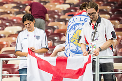 July 12, 2018 - Moscow, Russia - 180712 Fans of England looks dejected after the FIFA World Cup semi final match between Croatia and England on July 12, 2018 in Moscow..Photo: Petter Arvidson / BILDBYRN / kod PA / 92085 (Credit Image: © Petter Arvidson/Bildbyran via ZUMA Press)