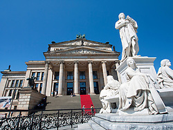 Schiller monument in front of Konzerthaus in Gendarmenmarkt in Mitte district Berlin Germany