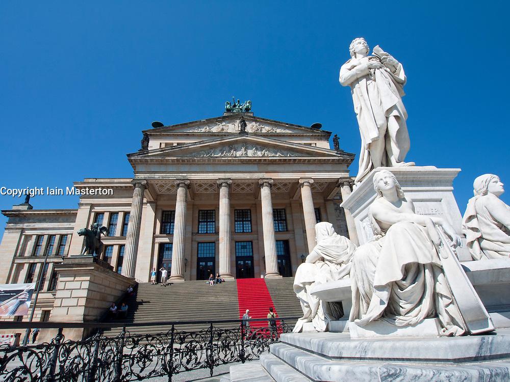 Schiller monument in front of Konzerthaus in Gendarmenmarkt in Mitte district Berlin Germany