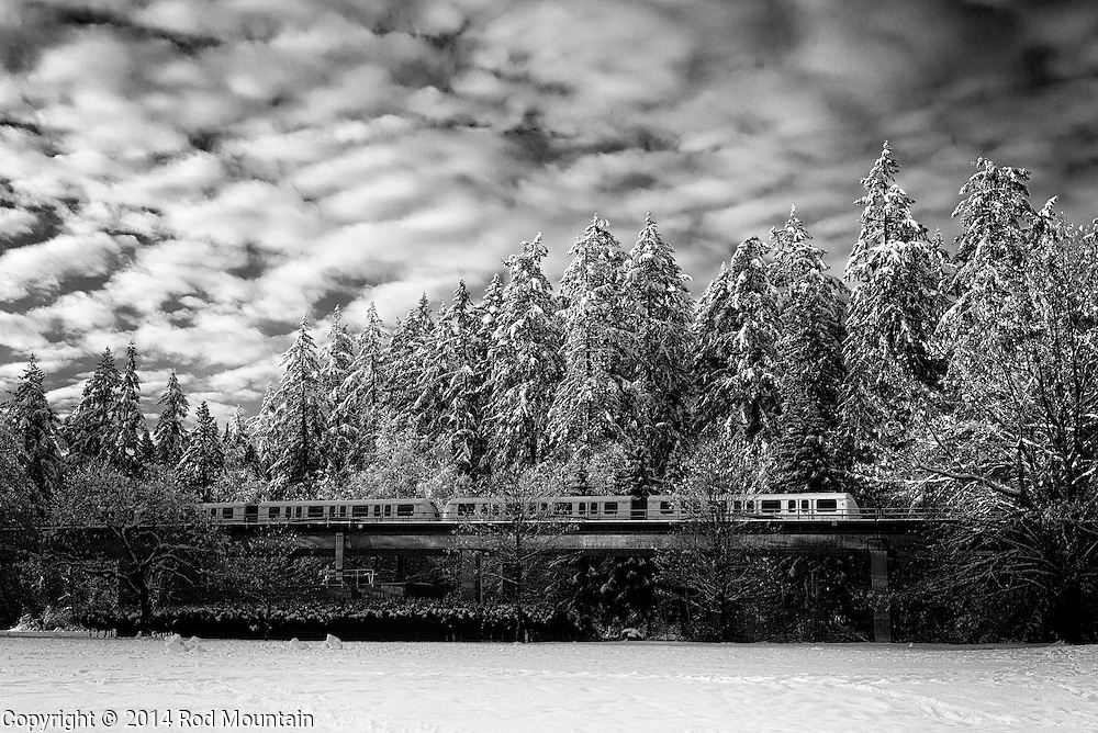 Rapid transit on a cold winter day. As captured in Burnaby, British Columbia (2014). <br /> Photo: © Rod Mountain<br /> <br /> <br /> http://www.rodmountain.com<br /> https://twitter.com/rod_mountain