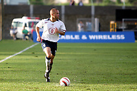 Fotball<br /> VM-kvalifisering<br /> Grenada v USA<br /> 20. juni 2004<br /> St. Georges Grenada<br /> Foto: Digitalsport/Icon SMI<br /> Earnie Stewart entered the game in the second half and became the 8th man to earn 100 caps