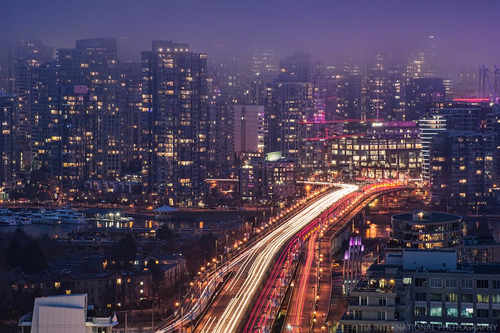 Cambie Bridge & Downtown Vancouver