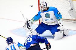 Robert Sabolic of Slovenia vs Henrik Karlsson of Kazakhstan during ice hockey match between Slovenia and Kazakhstan at IIHF World Championship DIV. I Group A Kazakhstan 2019, on April 29, 2019 in Barys Arena, Nur-Sultan, Kazakhstan. Photo by Matic Klansek Velej / Sportida