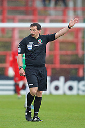 WREXHAM, WALES - Monday, May 2, 2016: Referee Bryn Markham Jones during the 129th Welsh Cup Final between Airbus UK Broughton and The New Saints at the Racecourse Ground. (Pic by David Rawcliffe/Propaganda)