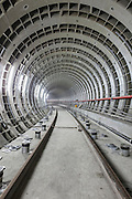 A tunnel on the Songshan line of Taipei's MRT system constructed from ductile cast oron.