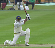 Shenley, Middlsex. ENGLAND, Sri Lanka Tour match.<br /> Photo Peter Spurrier<br /> 11/05/2002<br /> Sport - Cricket - Middlesex vs Sri Lanka -Shenley:<br /> Sri Lankan  Capt, Atapattu, watches his strike, go through to the boundary.                             [Mandatory Credit:Peter SPURRIER/Intersport Images]