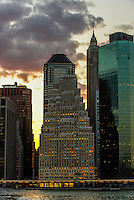 Skyscrapers, Lower Manhattan, New York, New York USA.