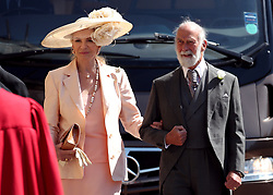 Prince and Princess Michael of Kent arrive at St George's Chapel at Windsor Castle for the wedding of Meghan Markle and Prince Harry.