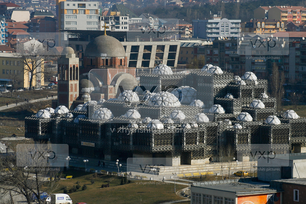 A general overview of Kosovo' capital city Pristina ahead of the declaration of independence in Kosovo's capital Pristina, Friday, Feb. 15, 2008. (Photo/Vudi Xhymshiti)