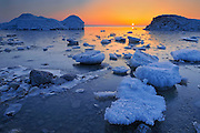Spring ice on Lake Winnipeg<br /> Winnipeg Beach<br /> Manitoba<br /> Canada