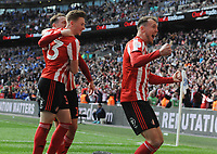 Football - 2019 EFL Checkatrade Trophy Final - Sunderland vs. Portsmouth<br /> <br /> Charlie  Wyke celebrates Aiden McGeady's goal for Sunderland that send the game into extra time, at Wembley.<br /> <br /> COLORSPORT/ANDREW COWIE