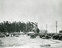 1934 Opening day of Farmers Market at Fairfax Ave & Third St.