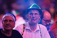 Darts fans during the Darts World Championship 2018 at Alexandra Palace, London, United Kingdom on 18 December 2018.